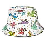 AOOEDM Dinosaurier Reise Farbe Zoo Unisex Druck Eimer Hut Muster Fischer Hüte Sommer Wende Packbare Kappe Frauen Männer Mädchen Junge
