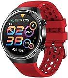 TYUI Smartwatch mit kabellosem Bluetooth Anruf Wasserdicht Fitness Armband für Damen und Herren für Android - Rot