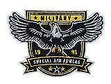 Militär Air Forces Adler Abzeichen Patch zum Aufbügeln   Bundeswehr Patches, Luftwaffe Aufnäher für Rucksack, Airsoft Embleme Finally Home