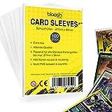 blaash® Card Sleeves   100 Premium - Hüllen   Transparente Kartenhüllen für alle gängigen Spiel- und Sammelkarten wie Pokémon, YuGiOh, MTG, Match Attax  Standard Penny Soft Sleeves   67 x 94mm