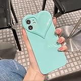Für iPhone 11 12 PRO MAX CASE, Niedliche Liebe Herz Linse Design Fall, Süßigkeiten Farbe Weiche TPU Slim Stoßfest Schutzhülle Für Frauen Mädchen-Blau_für iphone 12 pro max