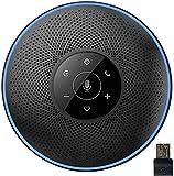 eMeet Bluetooth Konferenzlautsprecher - USB Freisprecheinrichtung für 5-8 Personen Konferenz, mit Dongle, 4 AI-Mikrofon 360º Spracherkennung, 8M Weitfeld, für Zoom, Skype, VoIP-Kommunikation PC usw