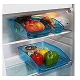 Provance 3er Set Kühlschrank Organizer Lagerung Box Gefrierschrank Speisekammer Lebensmittel Aufbewahrungsbehälter für Gemüse Obst Milch, Durchsichtig V