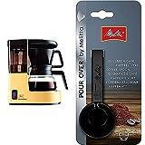 Melitta 1015-03 Aromaboy Filter-Kaffeemaschine, Beige/Braun & Kaffeedosierlöffel mit Mengenmarkierungen, Für 8, 10 oder 12 g, Kunststoff, Schwarz, 217618