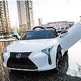 Daliya Lexus LC500 Kinderfahrzeug mit Bluetooth RC 2,4GHz Fernbedienung - 12V - Rc 2,4 Ghz Fernbedienung - Led - Mp3 - Soundmodul - Elektro Auto für Kinder ab 3 Jahre - Kinderauto Spielzeug (weiß)