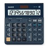 CASIO Tischrechner DH-12ET, 12-stellig, Steuerberechnung, Gesamtsummen-Speicher, Solar-/Batteriebetrieb