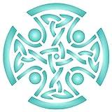 Schablone mit keltischem Kreuz, wiederverwendbar, religiöses Tribal-Knotenmuster, Wandschablone – für Papierprojekte, Scrapbooking, Tagebuch, Wände, Böden, Stoff, Möbel, Glas, Holz etc. M