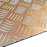 Alu Riffelblech, Alublech 2,5/4,0 mm stark, Platte, 1250 x 750 mm Platte, Aluminium Warzenblech