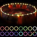 RUBAPOSM LED-Trampolin-Lichter mit Fernbedienung, 16 Farbwechsel wasserdichte LED-Lichter, hell zum Spielen bei Weihnachtsdekoration Nacht im Freien, Partys,12m