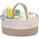 LEDMI Baby-Windel-Aufbewahrungsbox aus 100 % Baumwollseil, Babyzimmer, Windel-Aufbewahrungskorb ist geeignet für Feuchttücher und Spielzeug.