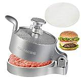 OAMCEG Hamburger-Patty-Maker, antihaftbeschichtet, Aluminium, verstellbare Dicke, Outdoor, DIY, BBQ, Burgerpresse, Werkzeug