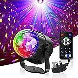 WANGZAI Led Lichteffekte Discokugel Feier Beleuchtung Disco Licht Partylicht Mit Fernbedienung Und Soundkontrolle 3W Bühnenlicht Geeignet Für Weihnachtsbar Party Auto Geschenk Kinder