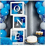 Hicollie Ballonboxen zum ersten Geburtstag für Partydekorationen, Ballonblöcke zum 1. Geburtstag mit einem Buchstaben für Babyparty für Mädchen, Fotoshooting-Requisite, Tischdekoration