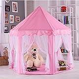 anagre Kinderzelt Spielzelt Babyzelt Spielhaus Prinzessin Rosa Kids Tent Prinz