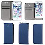 Supercase24 Book Case für ZTE Blade A452 Klapp Cover Schutzhülle Etui Handytasche Flip mit Smart Magnet in blau