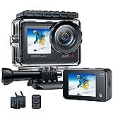 Action cam 4K 20MP Sports Kamera Ultra HD unterwasserkamera Anti-Shake Dual Bildschirm 170 ° Weitwinkel WiFi 2.4G Fernbedienung Zeitraffer 2.0inch LCD Bildschirm Campark wasserdichte Helmkamera