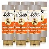 Monin Salted Caramel Sauce 500 ml - Salted-Caramel Flavoured Sauce (6er Pack)