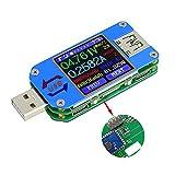 UM25C USB Tester Meter, 1.44-Zoll Farb LCD Display, 5 Ziffern 5A USB 2.0 Typ-C Bluetooth digitale Power Voltmeter Amperemeter Multimeter, Leistungsmesser Spannung Strom Spannungsprüfer (1pc UM25C)