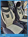 Maß Sitzbezüge kompatibel mit Fiat Ducato 250 Fahrer & Beifahrer ab BJ 2006 Farbnummer: 902 Schwarz-Beige