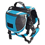 Less Bad Lifeunion Hunde-Rucksack, Polyester, für Reisen, Camping, Wandern, Outdoor-Abenteuer, Large, blau