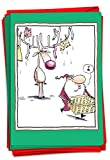 P-XSBOX-McCoy NobleWorks Box McCoy Weihnachtskarten 12 Christmas Card Pack (SKU:B5824) Laundry Antlers McCoy Boxed Set Christmas C