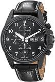 Jacques Lemans Herren Chronograph Automatik Smart Watch Armbanduhr mit Leder Armband 1-1750C