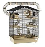 XXL Diamant Hamsterkäfig 5 Etagen 3 Leitern großes Röhrensystem Beige Außenröhren mehrere Türen viel Zubehö