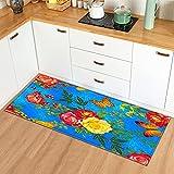 OPLJ Moderne Küche Teppich Schlafzimmer Wohnzimmer Dekoration Teppich Home Flur Eingang Fußmatte Balkon Anti-Rutsch-Bodenmatte A13 60x180cm