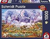 Schmidt Spiele 58356 Tiere an der Wasserstelle, 1000 Teile Puzzle, Bunt