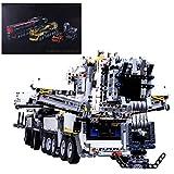 Seasy Technik Kran LKW Bausteine, Technik Mobiler Schwerlastkran mit Fernbedienung, 7692 Klemmbausteine, Kompatibel mit Lego