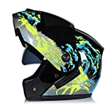 SJAPEX Klapphelm Integralhelm Motorrad Helm ECE Zertifizierter Quad Damen Herren Roller Gesichtsschutz Erwachsene Regenschutz Sturzhelm Motorradhelm Moped Mofa E,XL=61~62cm
