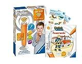 tiptoi Ravensburger Set: Pocket Wissen | Feuerwehr (Kinderbuch) + 00036 Der Stift - WLAN-Edition + 2X Create-Sticker