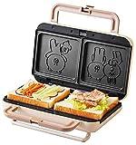 YFGQBCP Waffelmacher, 900W Haushalt elektrische Waffelmaschine, Sandwich-Frühstücksbackenmaschine Multi-Toaster, Non-Stick-Kuchen Baker