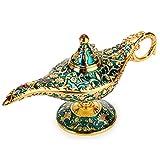 BTSKY Klassische Luxuslampe im magischen Aladdin-Design mit Geschenkbox, exquisitem Retro-Aladdin-Licht, Wunderlampe, Heimtextilien, Tischdeko, Kunsthandwerk, grün