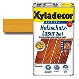 Xyladecor® Holzschutz-Lasur 2 in 1 Eiche hell 0,75 l - Wetterschutz & dringt tief ins Holz ein & blättert nicht ab