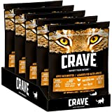 CRAVE Premium Trockenfutter mit Truthahn & Huhn für Katzen – Getreidefreies Adult Katzenfutter mit hohem Proteingehalt – 5 x 750 g
