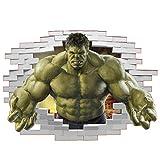 Aisoway 3D Avengers-Wand-Aufkleber Der Unglaubliche Hulk Wandtattoo-Aufkleber Für Schlafzimmer Gaming-Wand-dekor-abziehbild