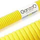 Paracord 550 Seil Gelb   31 Meter Nylon-Seil mit 7 Kern-Stränge   für Armband   Knüpfen von Hunde-Leine oder Hunde-Halsband zum selber machen   Seil mit 4mm Stärke   Mehrzweck-Seil   Survival-Seil   Parachute Cord belastbar bis 250kg (550lbs) - Marke Ganzoo
