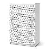 creatisto Möbelfolie selbstklebend passend für IKEA Malm Kommode 6 Schubladen (hoch) I Möbeldeko - Möbel-Aufkleber Folie Tattoo I Wohndeko für Esszimmer und Wohnzimmer - Design: Mediana