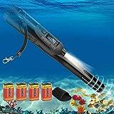Metalldetektor Pinpointer IP68 Völlig Ganzer Körper Wasserdicht 12 Meter unter Wasser Tragbar Metalldetektoren für Kinder und Erwachsene Sondeln Goldmünze Hunt mit LCD Screen - Schwarz