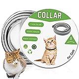 Floh- und Zeckenhalsband für Katzen, 8 Monate effektiver Schutz, wasserdicht, Anti-Floh-Halsband, verstellbare Länge 63,5 cm, passt für kleine, mittelgroße und große Haustiere