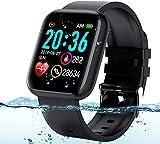 Langguth Smartwatch, Fitness Armbanduhr, 1.3 Zoll Touchscreen Fitness Tracker mit Pulsuhr, EKG, Wasserdicht IP67 Fitnessuhr Sportuhr, Smart Watch für Damen Herren für Android i-OS