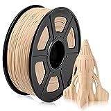 Holz PLA Filament, PLA Wood 3D Drucker Filament 1,75mm, Holzfaser Gefülltes PLA Holz Filament 1KG (2,2 lb) PLA Holzfarbe
