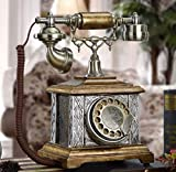 YUEZPKF Schön Upgrade Telefon, Vintage Telefon Rotary drahtlos Antike Telefon, Festnetz Home Retro Telefon Mode Kreative Rotary Vintage WLAN-Telefon für Home-Dekoration Lagerwert 25x18x30cm