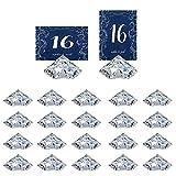 HOHIYA Diamant Tischkartenhalter Platzkartenhalter Memohalter für Partys, Zuhause, Event, Hochzeit, Geburtstag, Restaurants, Gastgeschenke, Dekoration, transparent, 20 Stück
