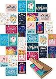 30 Geburtstagskarten im Set - Glückwunschkarten zum Geburtstag für Freunde, Eltern, Erwachsene und Kinder! Happy Birthday Geburtstagskarte! (ohne Umschläge)