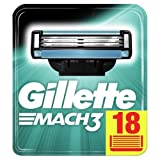 Gillette Mach3 Rasierklingen für Männer, 18 Ersatzklingen, briefkastenfähige Verpackung, mit Klingen stärker als Stahl (Verpackung kann variieren)