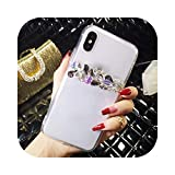 Schutzhülle für Samsung S6 S7 S8 S9 S10 Plus S10 Lite Note5 8 9 Luxus Bling Strass Kristall Weich Transparent TPU 1-For Galaxy Note5