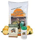 Meine Orangerie Zitrus-Pflegepaket Mezzo: Beste Zitruserde + starker Zitrusdünger + nützlicher Feuchtigkeitsmesser + hilfreiche Pflegebroschüre