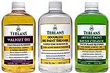 TERLANS Hilfsmittel für die Ölmalerei 3 x 500 ml/Terpentinersatz, komplett geruchlos/Walnussöl/Ölpinselreinig